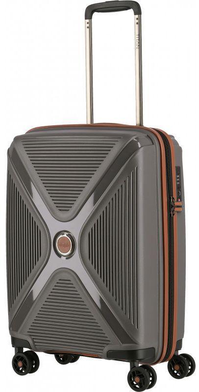Пластиковый чемодан Titan Paradoxx серый 40 л