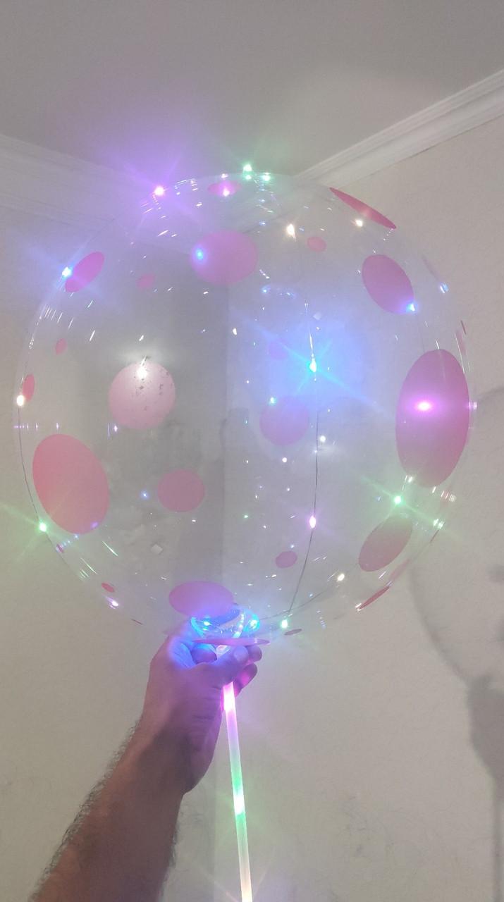 Светящиеся шары бобо с рисунками