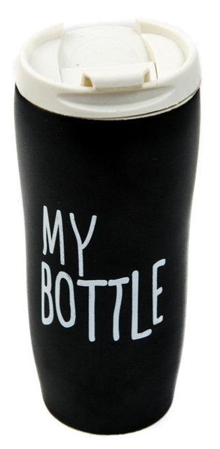 Чашка керамическая термокружка My Bottle 450мл черная