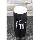 Чашка керамическая термокружка My Bottle 450мл черная, фото 2