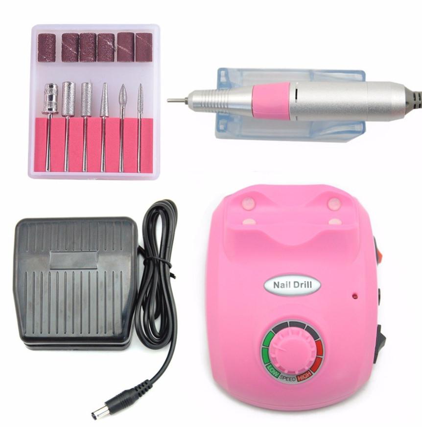 Професійний фрезер Beauty Nail Master DM-208 00073 для манікюру педикюру 30W рожевий