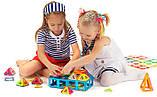 Магнитный конструктор для ребенка магнитные блоки 40 элементов, фото 6
