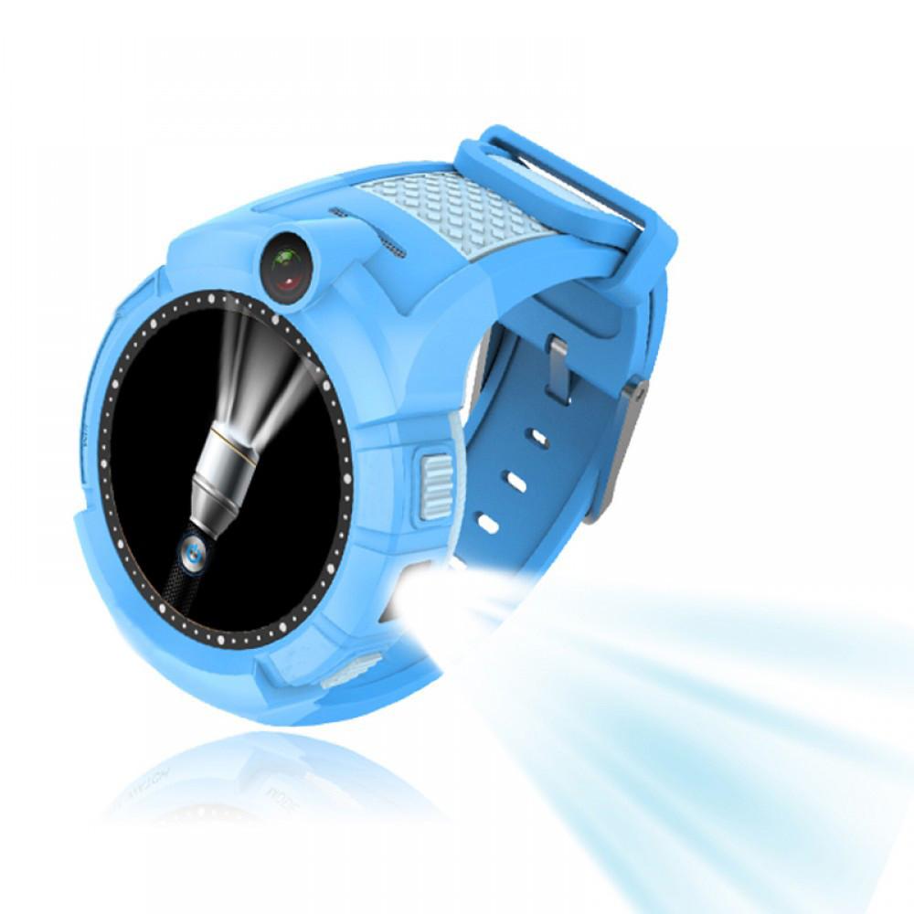 Детские умные GPS часы Smart Baby Watch Q360 с камерой и фонариком Blue