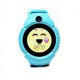 Детские умные GPS часы Smart Baby Watch Q360 с камерой и фонариком Blue, фото 2