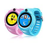 Детские умные GPS часы Smart Baby Watch Q360 с камерой и фонариком Blue, фото 3