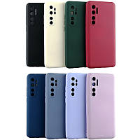 Чехол Silicone Case Full для Xiaomi Mi Note 10 Lite с микрофиброй (Разные цвета)