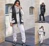 Р 46-56 Теплий костюм трійка-жилетка, кофта та штани Батал 22637