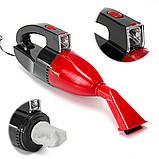 Автомобильный пылесос с фонарем Vacuum Cleaner красный, фото 4