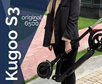 Электорсамокаты Kugoo S3 Black (Электросамокат Куго с3 черный) ХИТ ПРОДАЖ! КРЕДИТ!