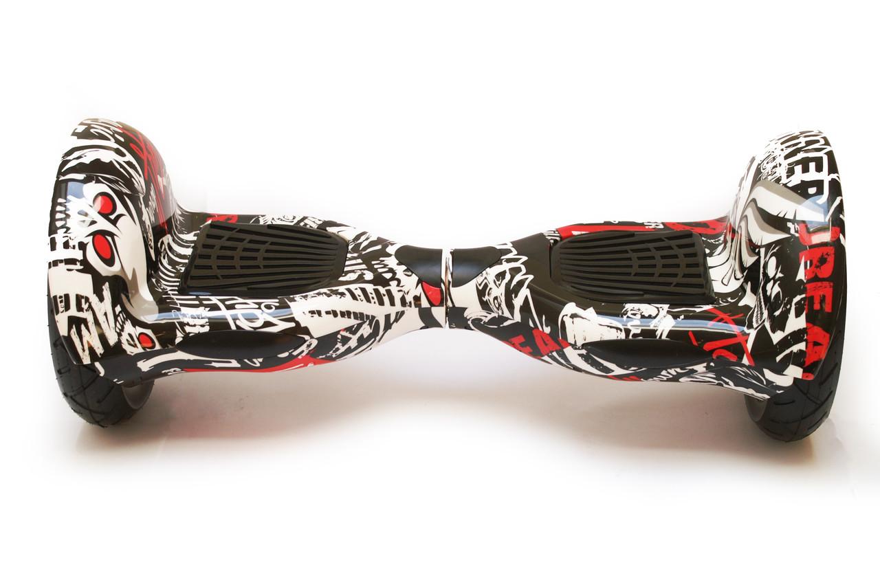 Гироборд 10 гироскутер сигвей с Bluetooth и колонками оригинал Black Graffiti