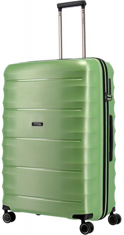 Большой пластиковый чемодан Titan Highlight зеленый 112 л