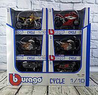 Мотоцикл металлический в ассортименте 18-51000 BBURAGO