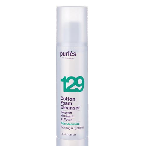 Мягкая очищающая пенка-мусс Purles 129 Total Cleansing Cotton Foam Cleanser 125 мл
