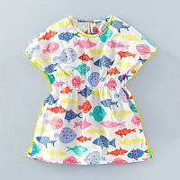 Платье для девочки Цветные рыбки Little Maven (24 мес)