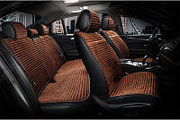 Накидки для сидений Алькантара Napoli комплект Темно-коричневые (700 115)