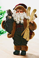 Новогодний Santa с лыжами