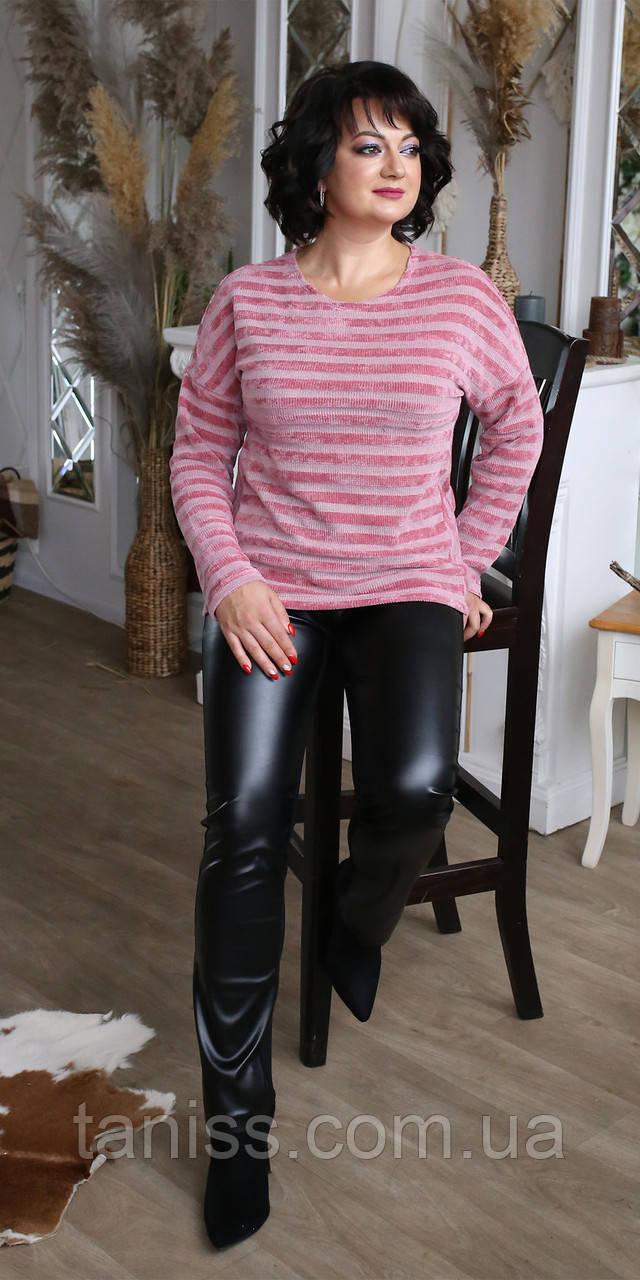 Жіночий стильний костюм , розміри 50,52,54,56, (2079) рожево\чорний костюм