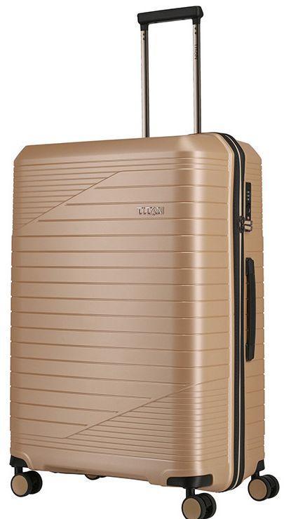 Большой чемодан Titan Transport бежевый 102 л