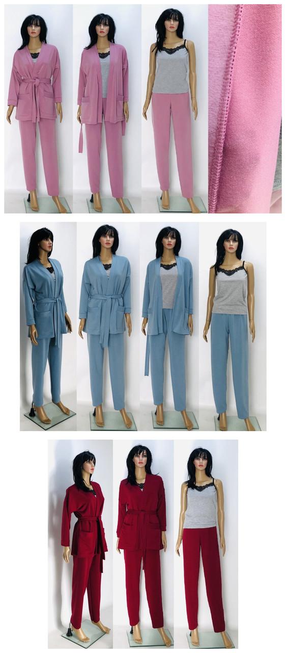 Домашний костюм (халат+брюки)
