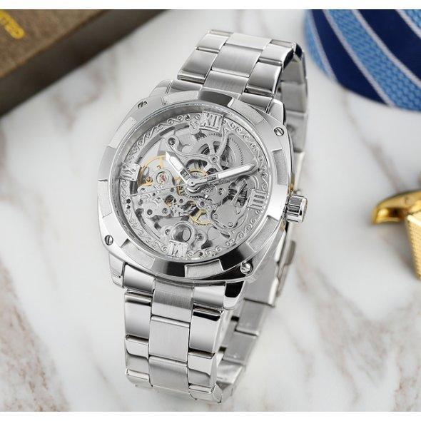 Часы Forsining Blitz мужские механические часы скелетон