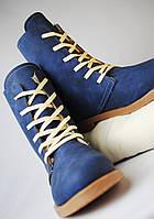 Стильные синие ботинки на зиму