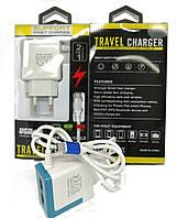 СЗУ 2USB + кабель USB/microUSB NEW