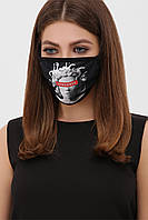 Черная защитная маска с принтом, фото 1