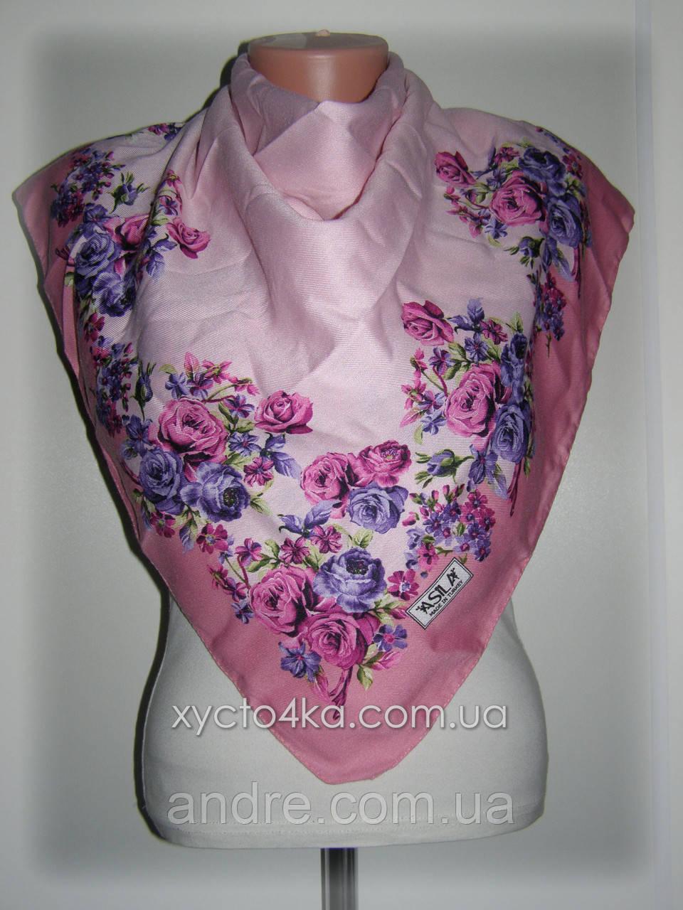 Платок кашемировый Диво розовый 80см