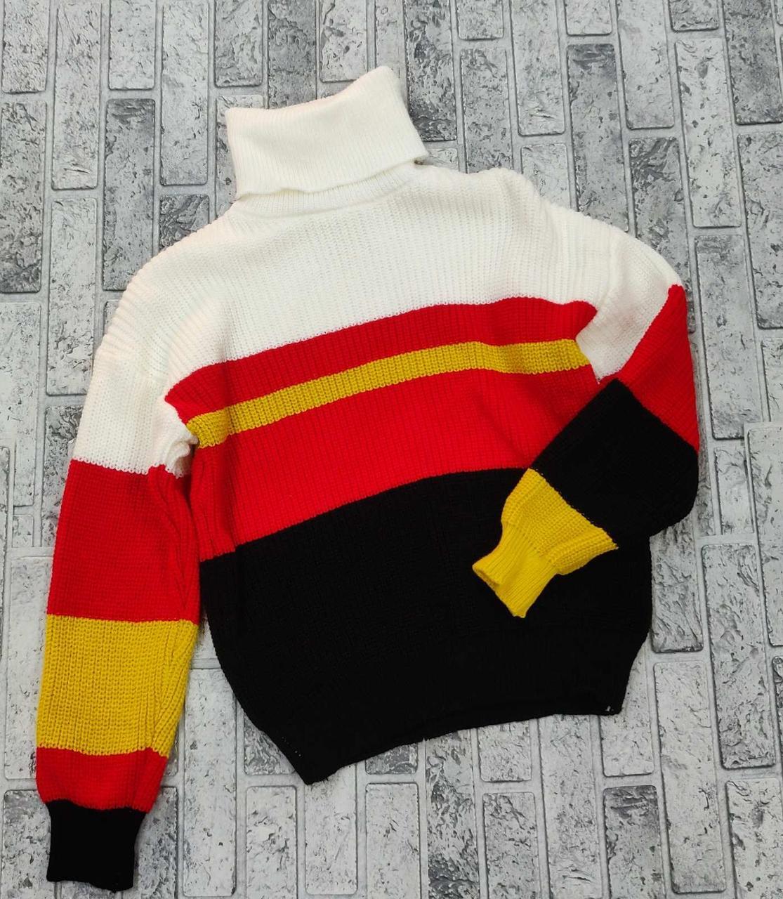 Теплый женский свитер-гольф 44-48 (в расцветках)