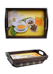 Поднос на подушке с ручками мини BST 040206 3525 коричневый Чайная церемония 040206, КОД: 1404554