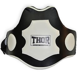Пояс тренера для бокса THOR Trainer belt 1064 Black/white (PU) изскуственная кожа для дома и спортзала