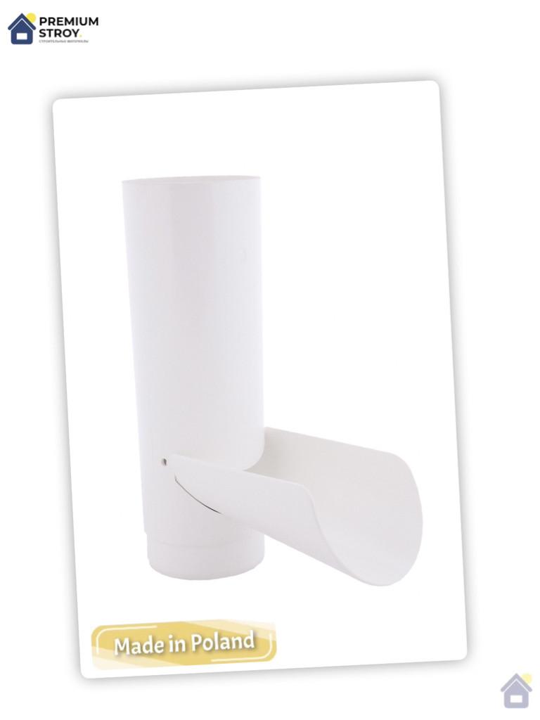 Отвод для сбора воды белый 130/100 Profil