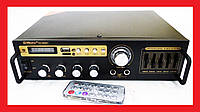 Усилитель звука Max SN-888BT Bluetooth + USB+ Fm+ Mp3 + КАРАОКЕ 2 микрофона, фото 1