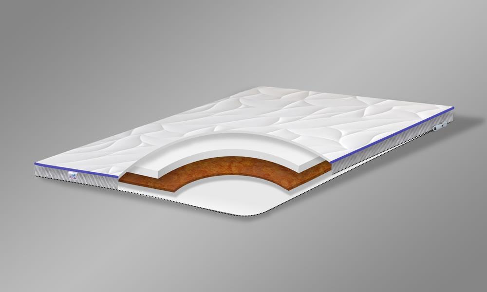 Матрас TOP AIR Hard Soft 150x190 беспружинный двухсторонний жусткий/умеренно мягкий 6 см высота