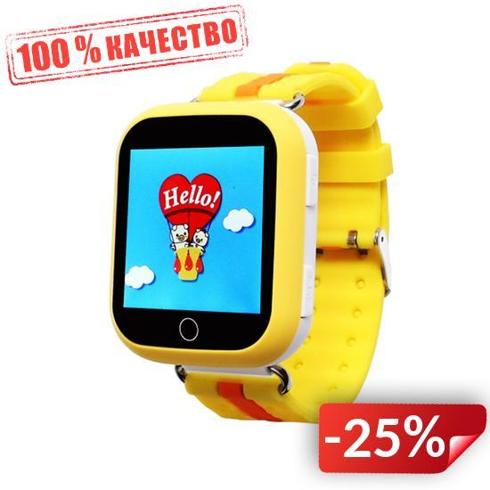 Детские умные смарт часы с GPS Smart Baby Watch Q100-PLUS Жёлтые