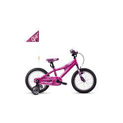 """Велосипед для велочки рост: 110-135 см Ghost POWERKID 16"""" , розово-фиолетово-белый, 2019 детский велосипед"""