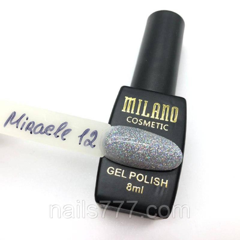 Гель-лак Milano Miracle 8 мл, №12