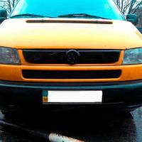 "Зимняя накладка Volkswagen T4 1994-1999 на решетку радиатора матовая ""FLY"", фото 1"