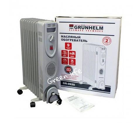 Масляный радиатор GRUNHELM (9 секций, 2000 Вт)
