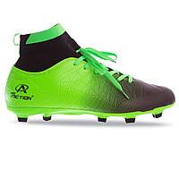 Бутсы футбольные с носком Pro Action PRO-1000-15 размер 44 Green-Black, фото 1