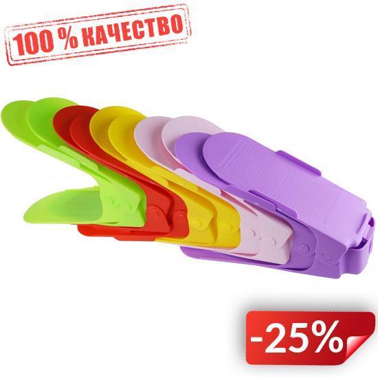 Двойная стойка для обуви Supretto Home набор 10 шт Разноцветный (5421)