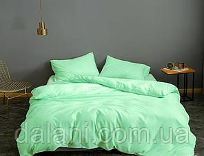 Зеленый евро макси комплект постельного белья из сатина