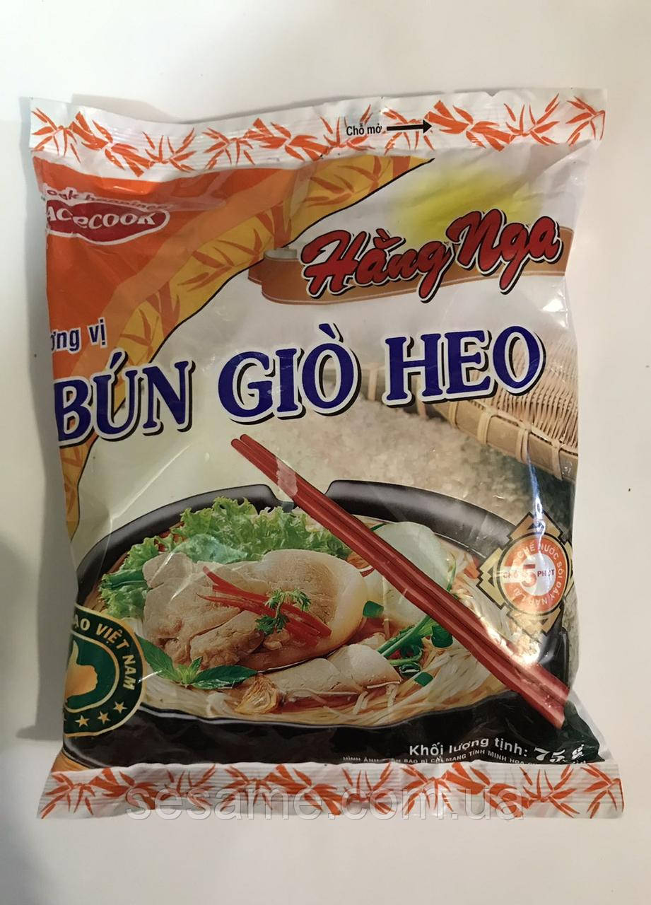 Рисовая лапша быстрого приготовления Bun Gio Heo со вкусом свинины 75г (Вьетнам)