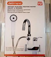 Кран электрический проточный водонагреватель для ванной с душем и LCD экраном, мини бойлер