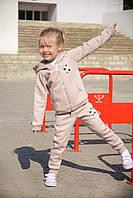 Стильный и теплый спортивный костюм для девочки р. 86, 104