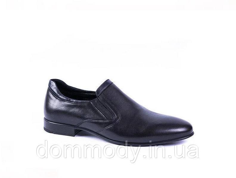 Туфли мужские из кожи черного цвета Jimmy