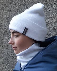 Вязаные женские шапки. Шапки с отворотом