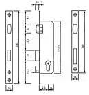 Замок металлопластиковых дверей Siba одноточечный (короткий) 155/р25 (16/25/85) с роликовой защелкой, фото 2