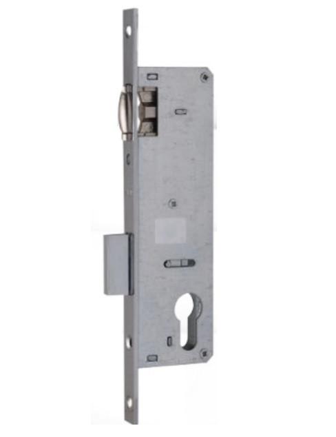 Замок металлопластиковых дверей Siba одноточечный (короткий) 155/р25 (16/25/85) с роликовой защелкой