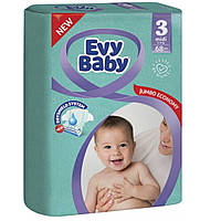 Evy Baby підгузники дитячі Elastic 3 (5-9кг) 68шт Midi